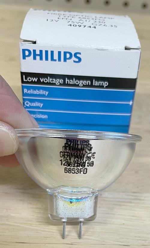 【8ミリ映写機用ランプ】PHILIPS フィリップス 6853FO [EFN 12V75W ハロゲンランプ]