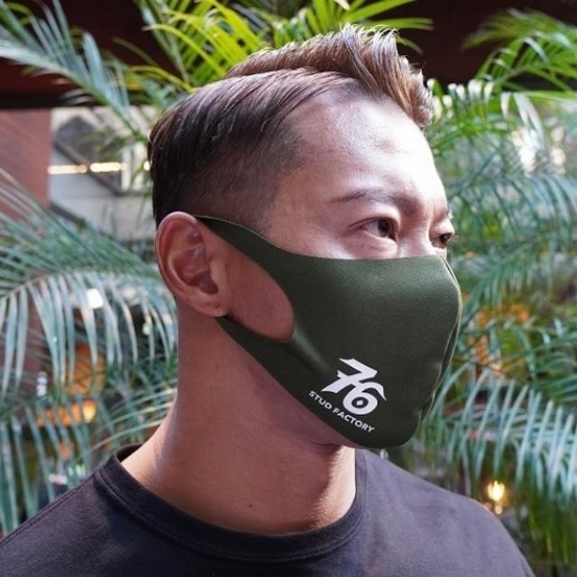 No,76 logo dry fit mask (OLIVE)