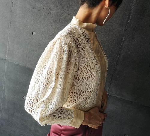 Cotton knit cardigan/ white