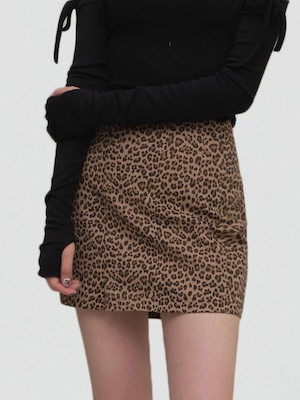 【WOMENS - 2 Size】LEOPARD MINISKIRT/ 2colors
