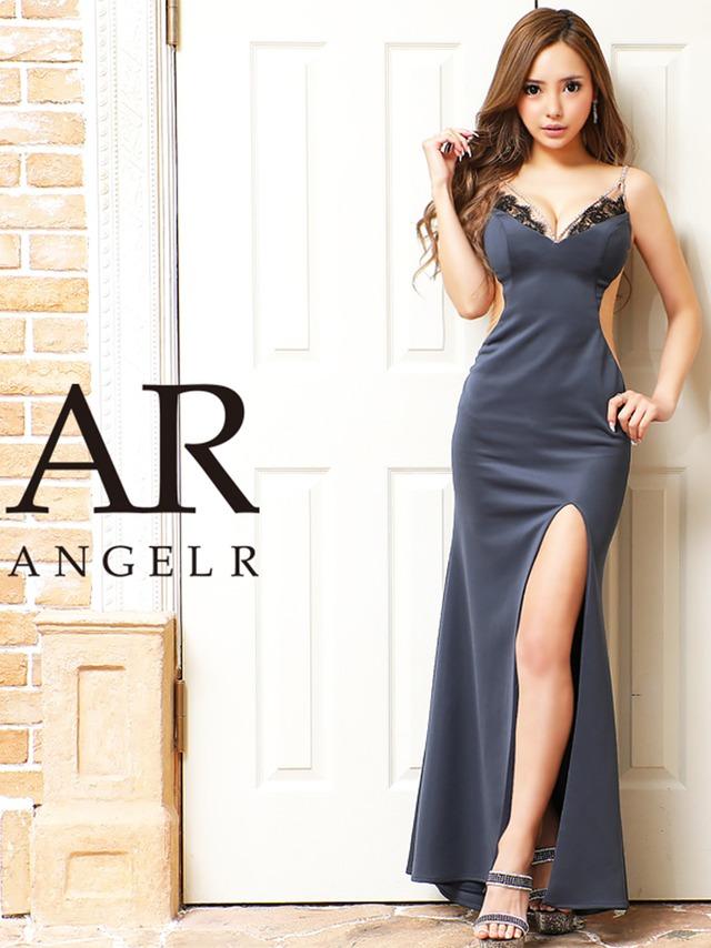 【AngelR】ランジェリーレースビジュータイトロングドレス(AR21319)
