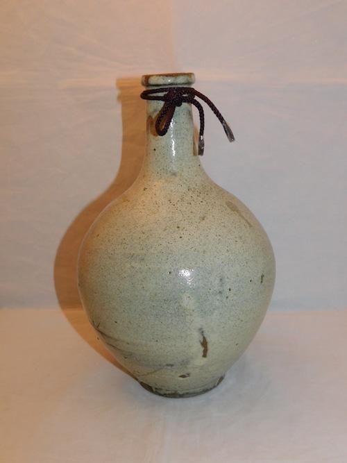堤焼酒瓶 Tsutsumi porcelain sake bottle