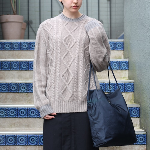 .LORO PIANA BABY CASHMERE100% KNIT MADE IN ITALY/ロロピアーナベイビーカシミヤ100%ニット2000000056890