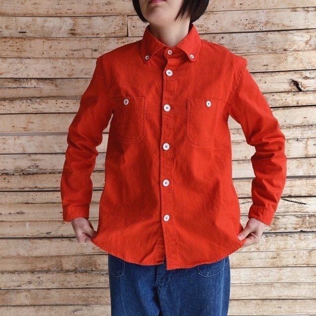 LOLO(ロロ) ボタンダウンオックスシャツ オレンジ