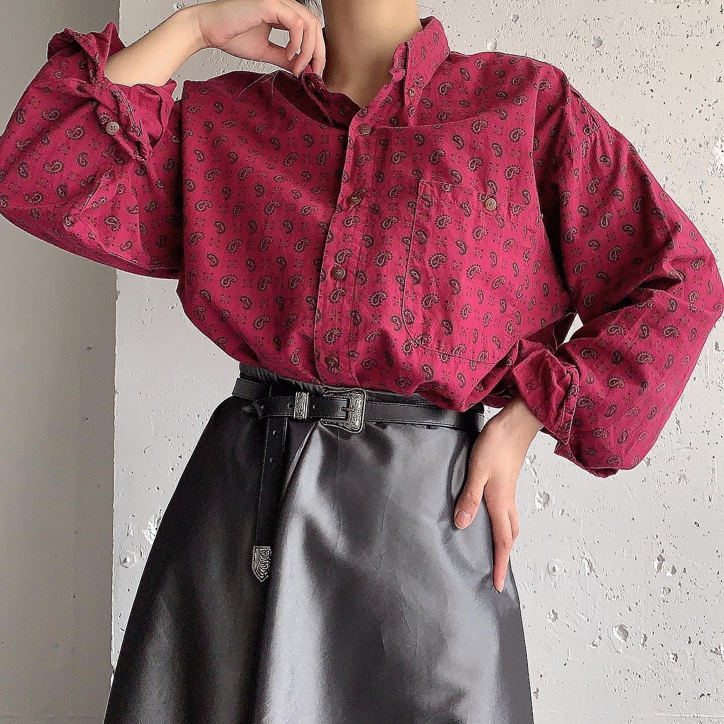 made in USA 80's vintage cotton shirt