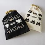 巾着袋 山猫俱楽部(白・黒)