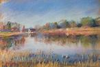 NO.130「水鳥と池・12月」