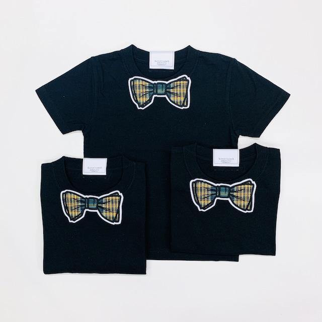 【SUPERTHAKS KIDS】蝶ネクタイワッペンTシャツ:ブラック