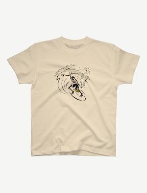 【サーフィンガイコツ】Tシャツ(ナチュラル)