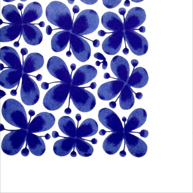 北欧【Rorstrand】バラ売り1枚 ランチサイズ ペーパーナプキン MON AMIE モナミ ブルー