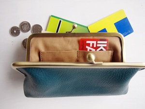 トライアングル ロングウォレット/がまぐち長財布 ターコイズ