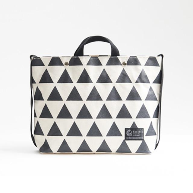 shoulder tote bag/black × scale ショルダートート/ 墨 x 鱗