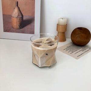 wave glass A 330ml / ウェーブ グラス コップ おうちカフェ 耐熱 不規則 韓国 北欧 インテリア 雑貨