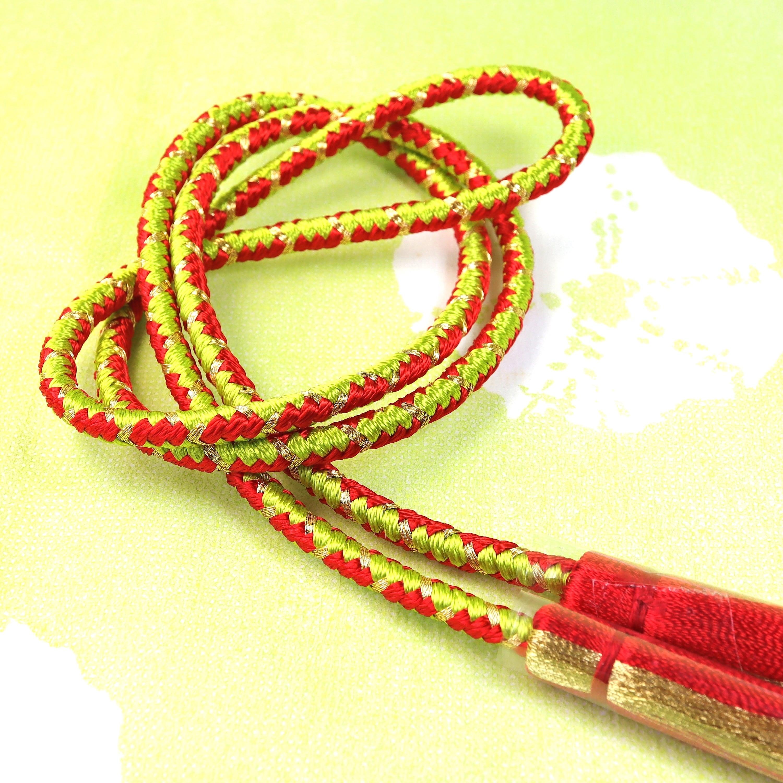 【組紐】レッドグリーン 房付き飾り紐