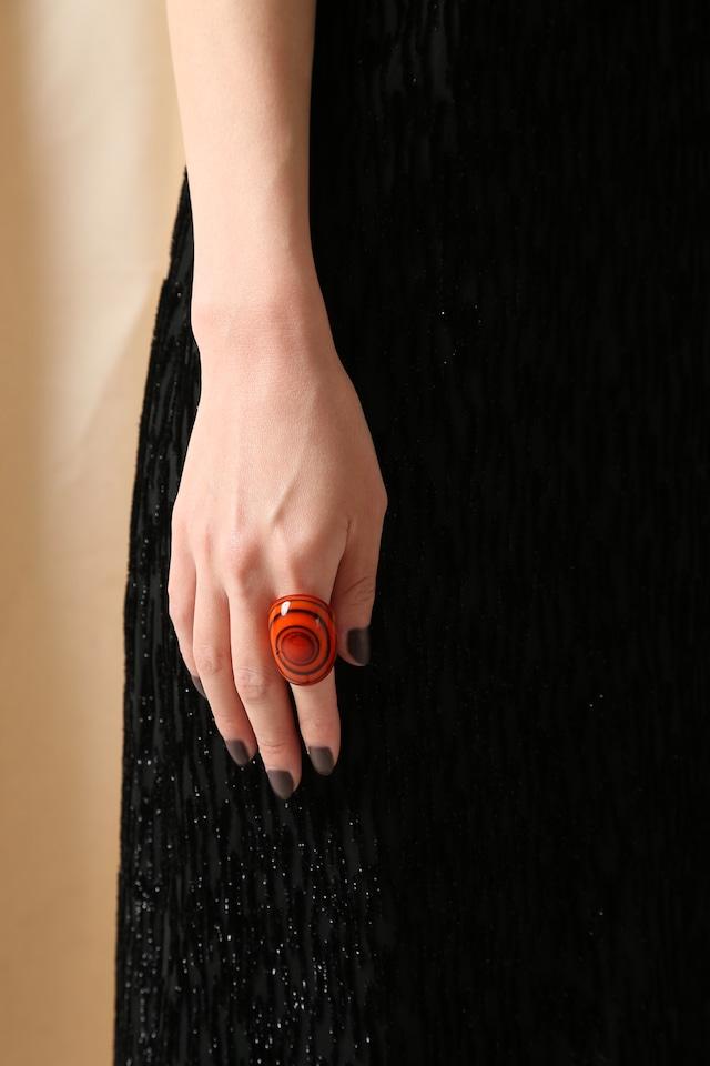 Venetian Glass Ring-Orange2