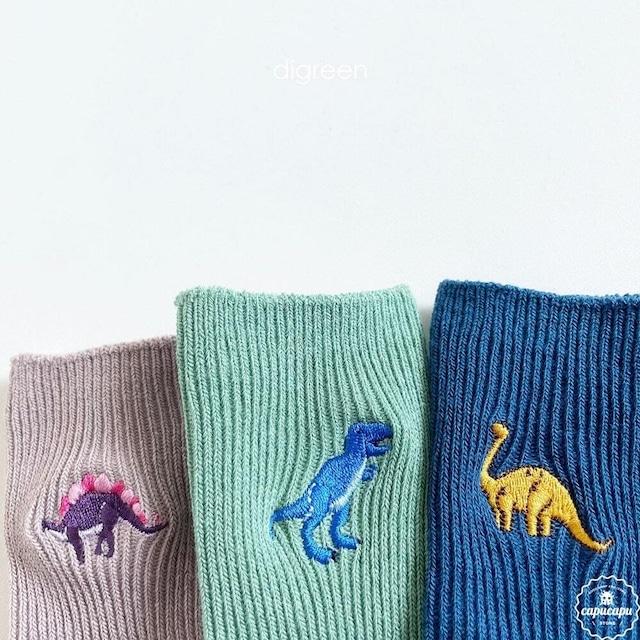 «即納・予約» dino socks 3set  ダイナソー 恐竜ソックス 靴下