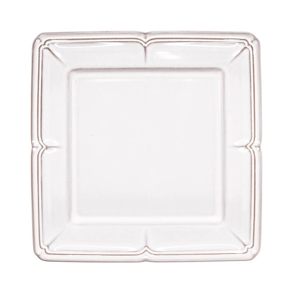 Koyo ラフィネ スクエア プレート 皿 約20cm スモークホワイト 15910064