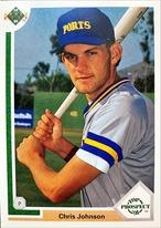 MLBカード 91UPPERDECK Chris Johnson #056 BREWERS