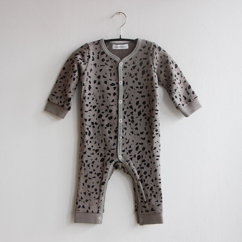 《chocolatesoup 2021AW》GEOMETRY SWEAT ROMPERS / MARBLE × GRAY