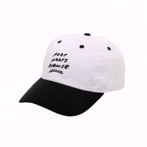 【40% OFF】POET MEETS DUBWISE / BASEBALL CAP(2TONE)