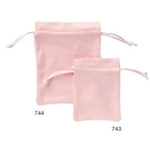 スェード巾着ポーチ角型S 中仕切り有り 20枚入り 743