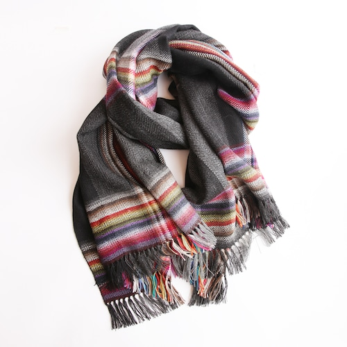 THE INOUE BROTHERS/Multi Coloured Stole/Black