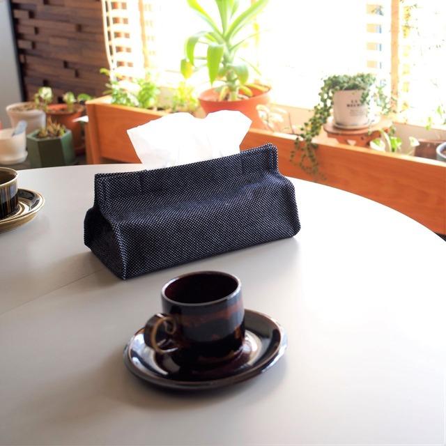 うしじま縫製 | 武州正藍染 ティッシュケース 一重刺子