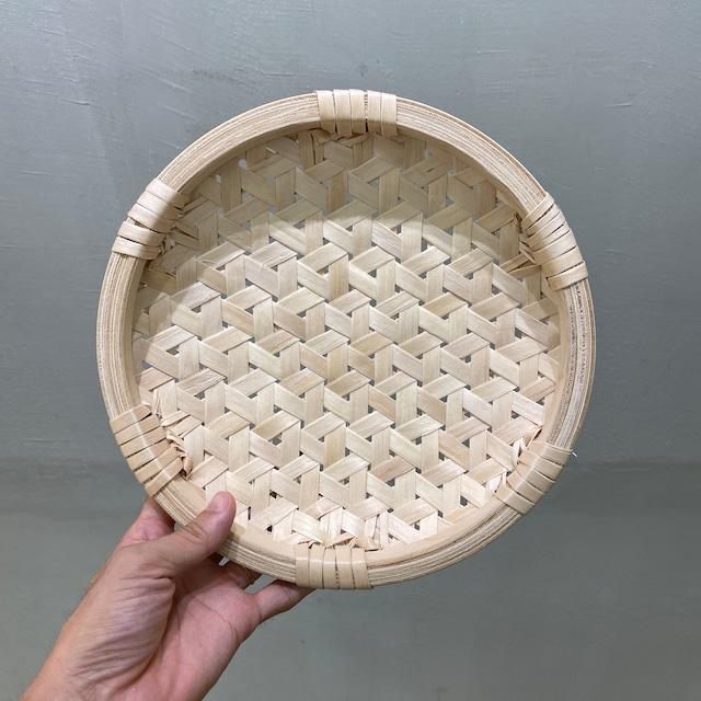 イタヤ細工 鉄線編み|盛皿|中