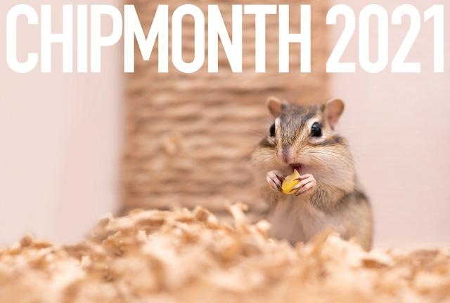 2021年シマリスカレンダー◆CHIPMONTH 2021◆/CA-CM-2021A