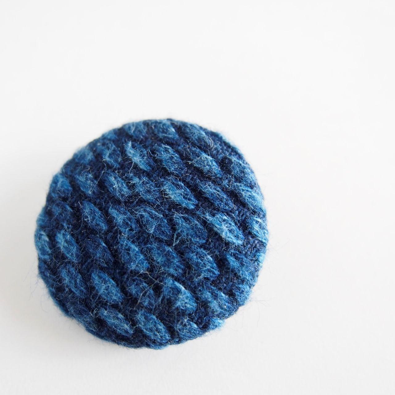 うしじま縫製   武州正藍染 バッジ 二重刺子