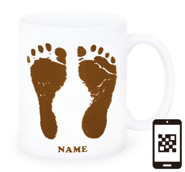 ai mug-white   A-type (BROWN) QRコード付き