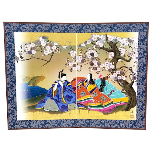 源氏物語二曲屏風 第五十二帖「蜻蛉」