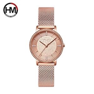 女性用時計フルダイヤモンド日本製クォーツラインストーン腕時計高級女性用ドレス時計RelogioFeminino Drop Shipping1074WF2