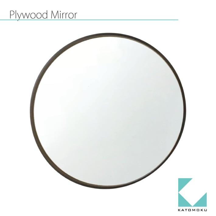 KATOMOKU plywood mirror km-91B ブラウン 362mm