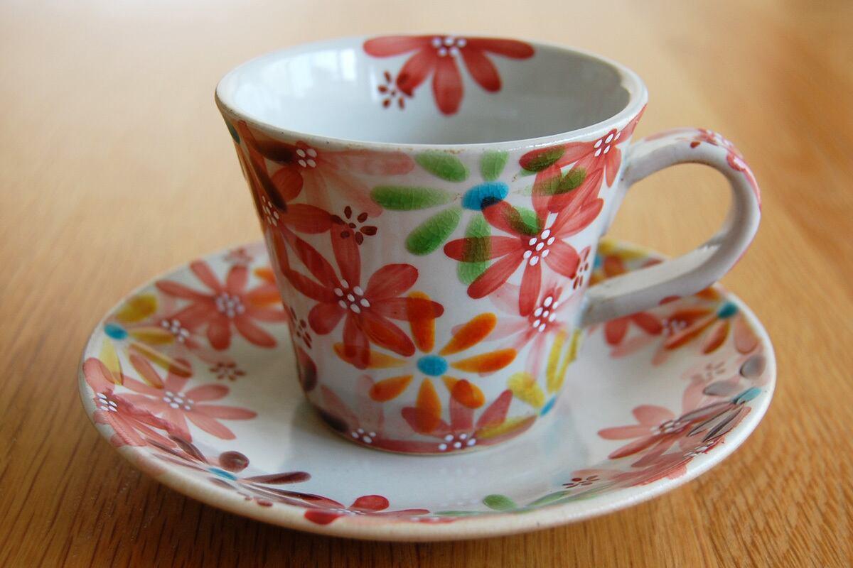 カップ&ソーサー 花の宴-utage-赤