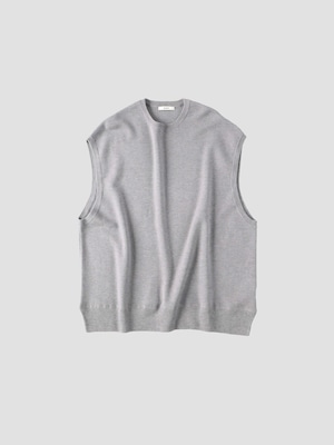 BODHI MIDDLE WEIGHT CASHMERE VEST Gray BD13007