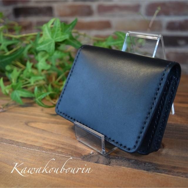 【受注制作】カードケース付き 通しマチの名刺ケース  (KA008c2-10)