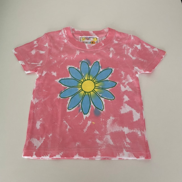 kidsTシャツ「大きな花 ムラ染め」100-21728