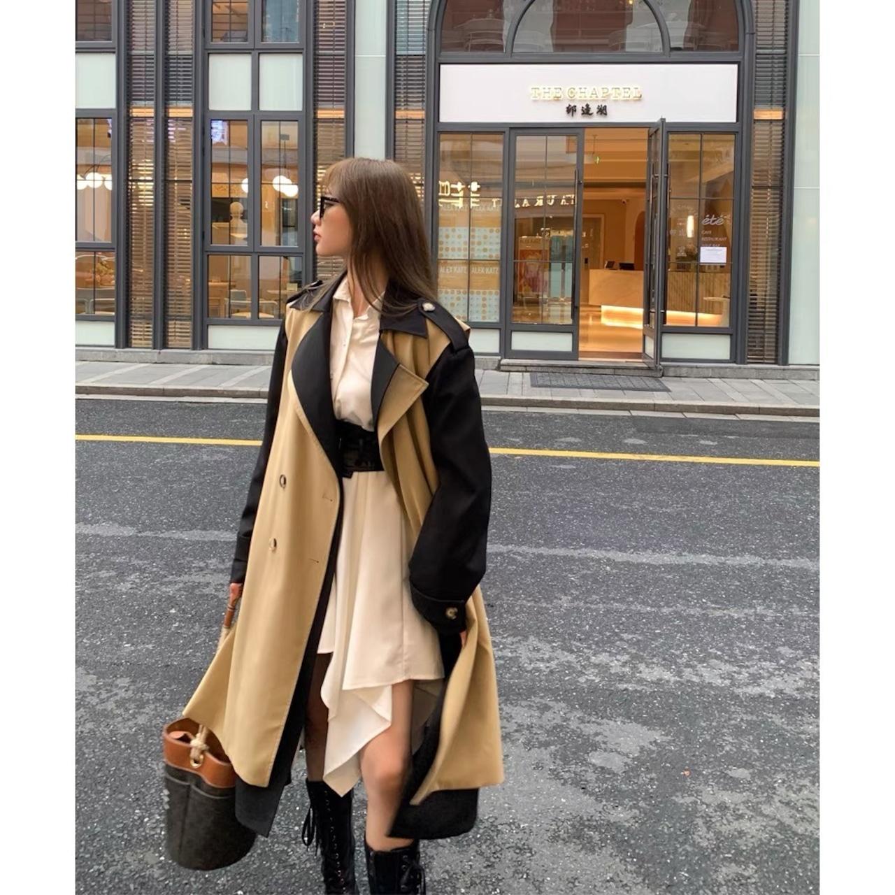 black line coat