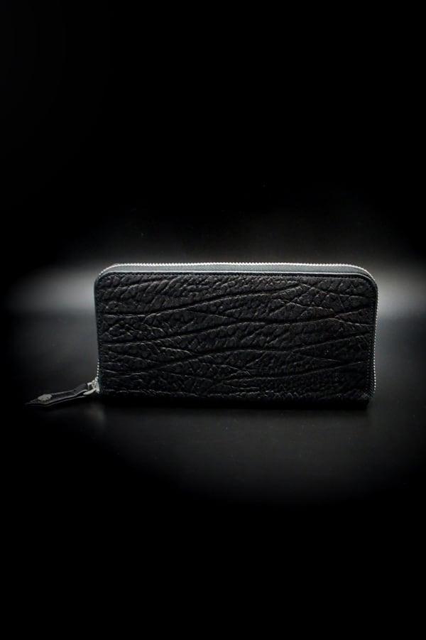 Item No.0357:Round Zip Wallet/Antelope /Black