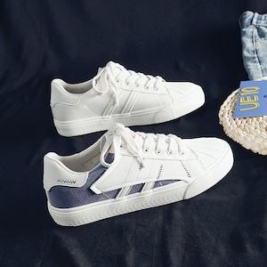 7237レディース スニーカー シューズ カジュアルシューズ  靴 フラットシューズ キャンパススニーカー ローカット デッキシューズ 白 ホワイト