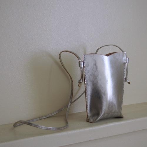 【saranam】sumaho case (silver)/ 【サラナン】スマホケース(シルバー)