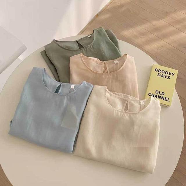ボリュームスリーブシースルーシャツ | シアーシャツ パフスリーブ 韓国服