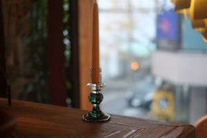 ◆三宅吹硝子工房◆三宅義一◆◆◆『吹き硝子の燭台』みどりa◆◆◆