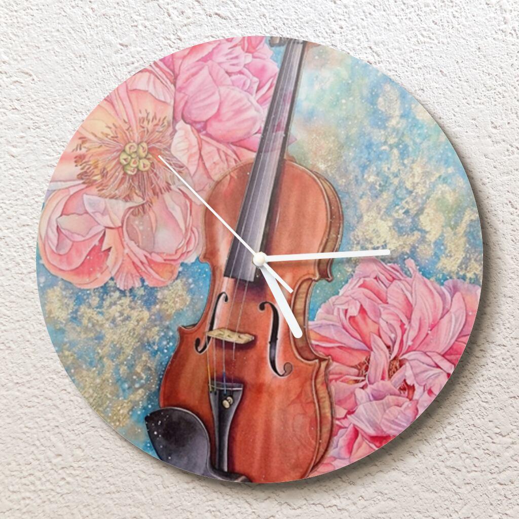 夢を奏でる壁掛け時計(L)