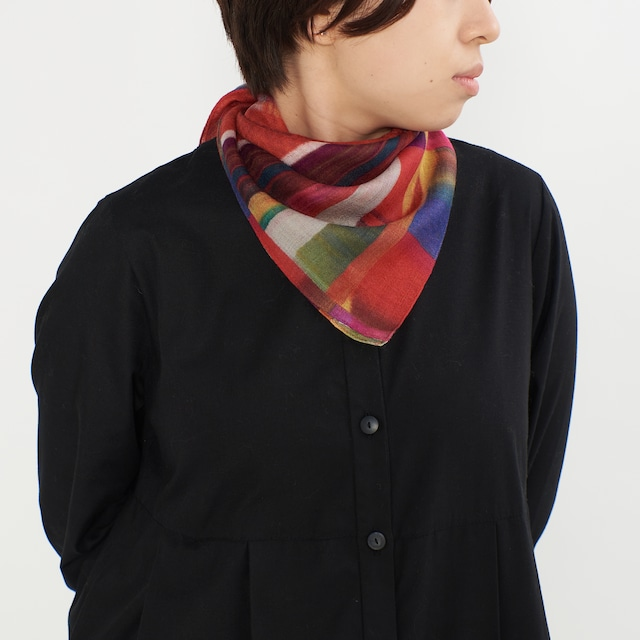 小さなシルクウールスカーフ / TANTO-2color