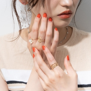 SET RINGS || 【通常商品】 CLEAR ROCK & GOLD RING SET || 3 RINGS || GOLD || CRSR0626L