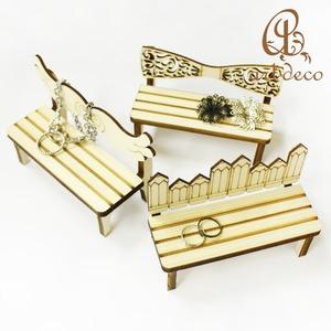 アクセサリー スタンド ベンチ 椅子 チェア 1個 雑貨 インテリア 装飾 木製 [sta-0002]