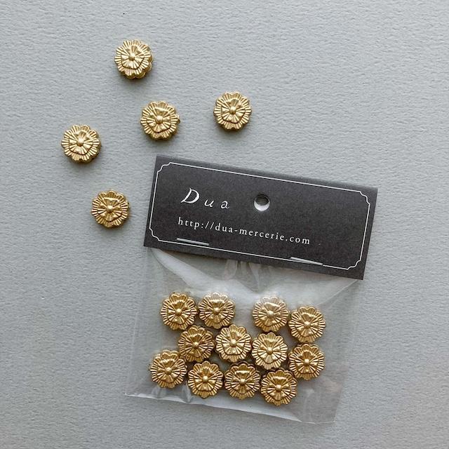 〈再入荷〉ゴールドフラットお花ビーズパック(12p)