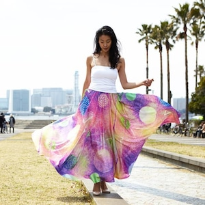 Chiffon Maxi Skirt HAMA 浜